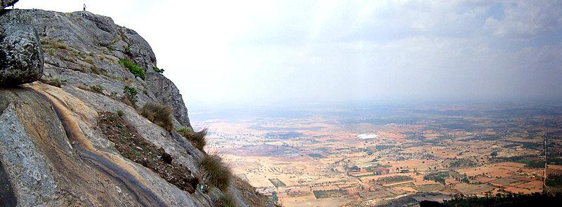 Cliff of Nandi HIlls near  Bengaluru